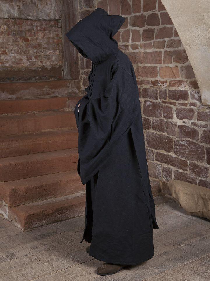 Manteau de magicien en coton en noir 2