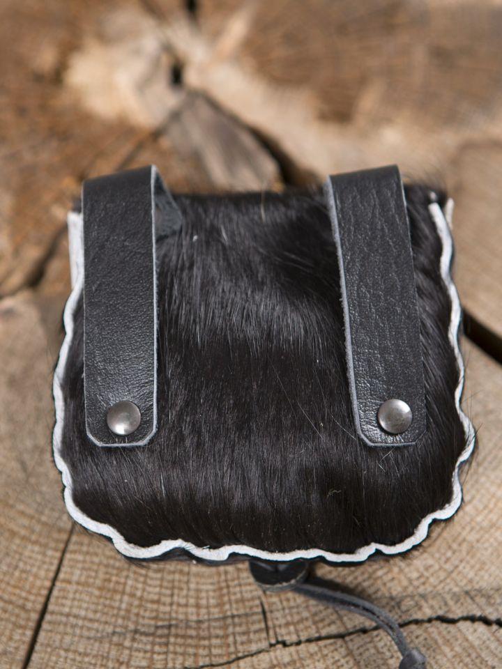 Petit sac en peau de vache, noir 2