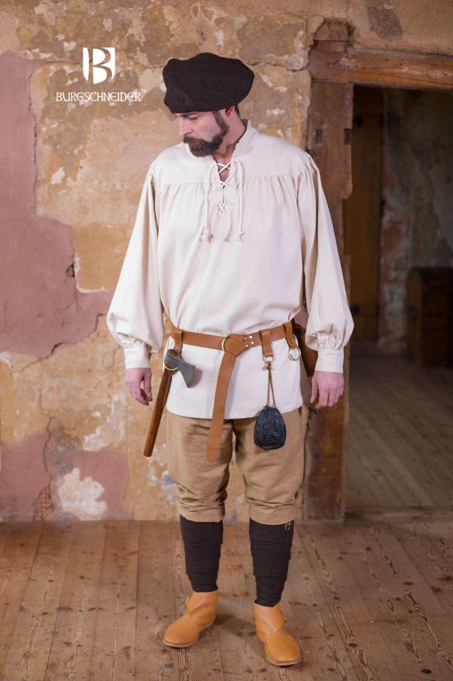 Chemise médiévale ou de pirate en blanc -écru L 2
