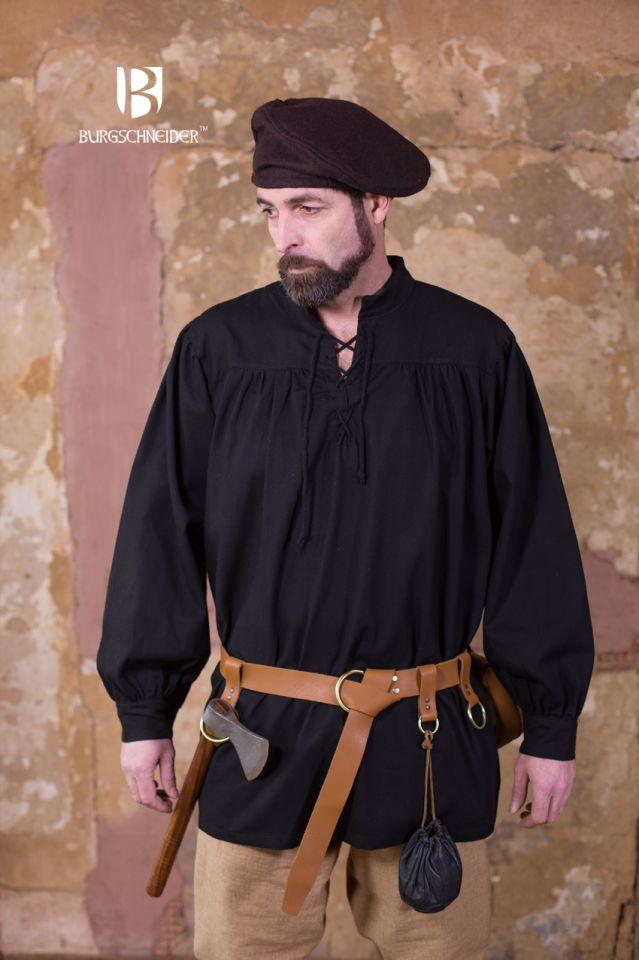 Chemise médiévale en coton robuste 2