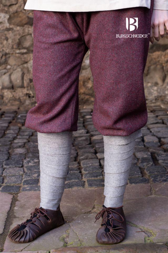 Pantalon féminin Tilda chiné bordeaux et gris 2