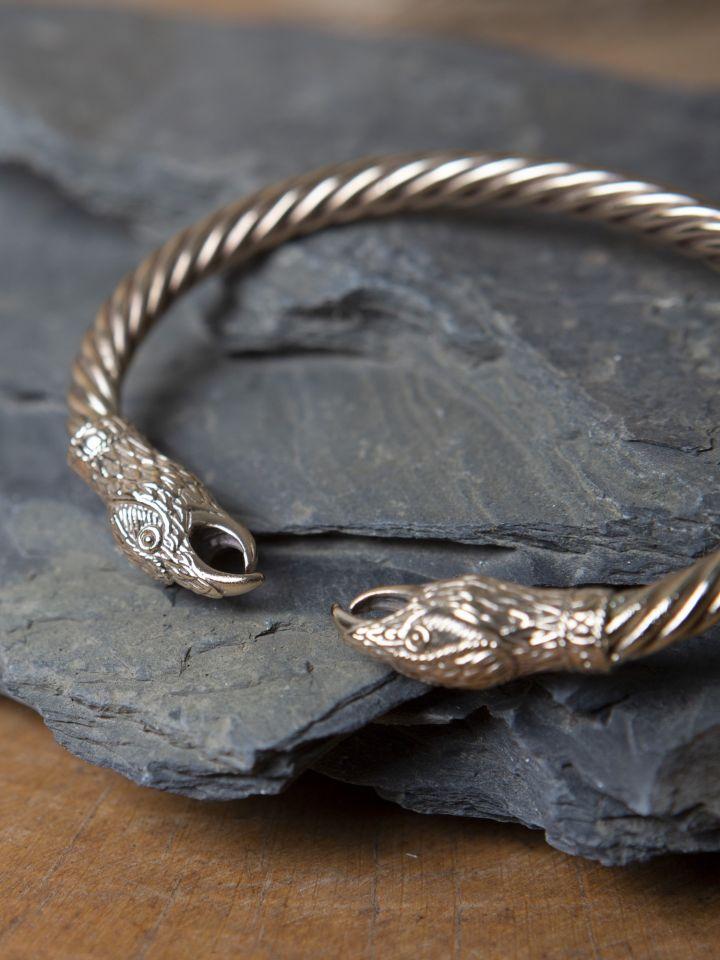 Bracelet jonc Corbeaux, en bronze 2
