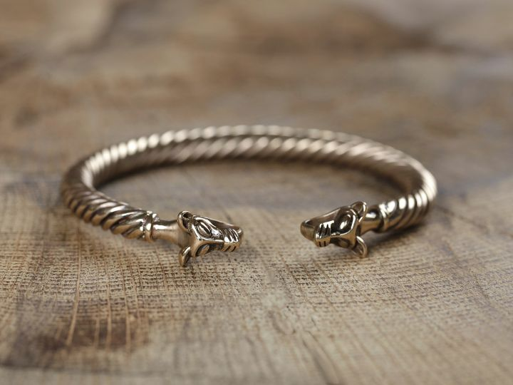 Bracelet Viking à Tête de loup 2