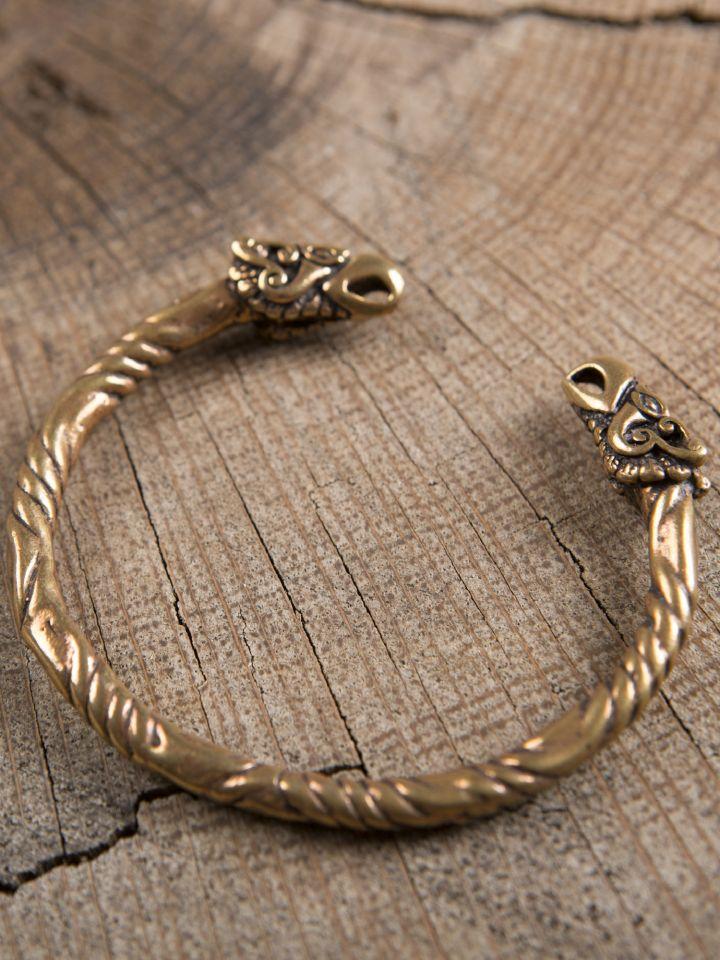 Bracelet en bronze à têtes de corbeaux 2