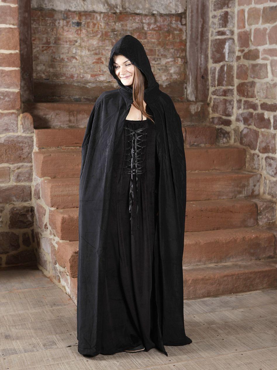 style unique paquet à la mode et attrayant nouvelles images de Cape à capuche en velours noir | La boutique médiévale