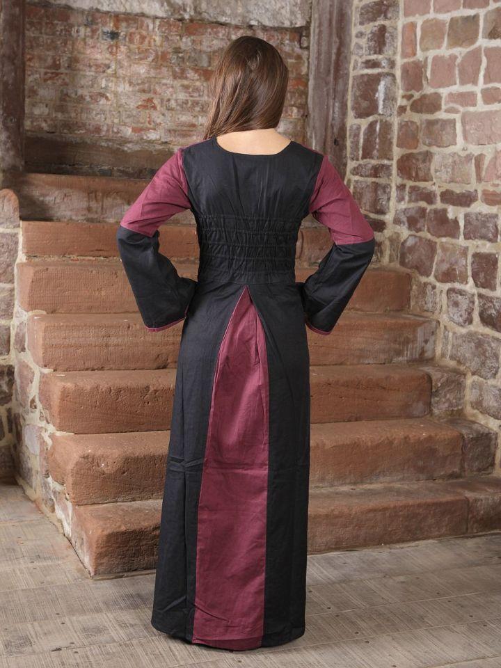 Robe médiévale bicolore (noire-bordeaux) L/XL 3