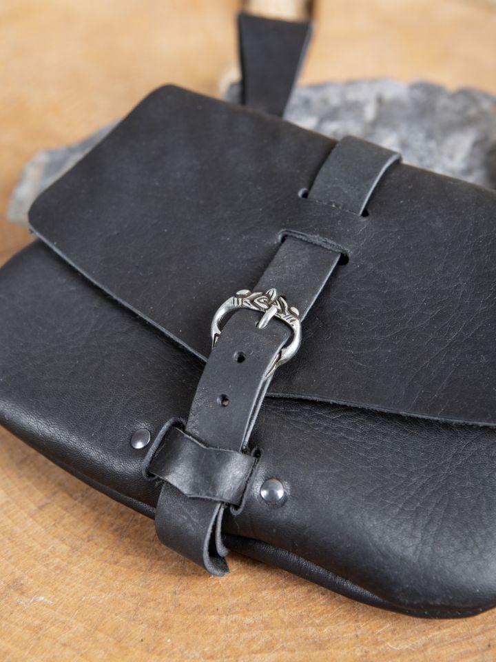 Sacoche de ceinture médiévale, en noir 3