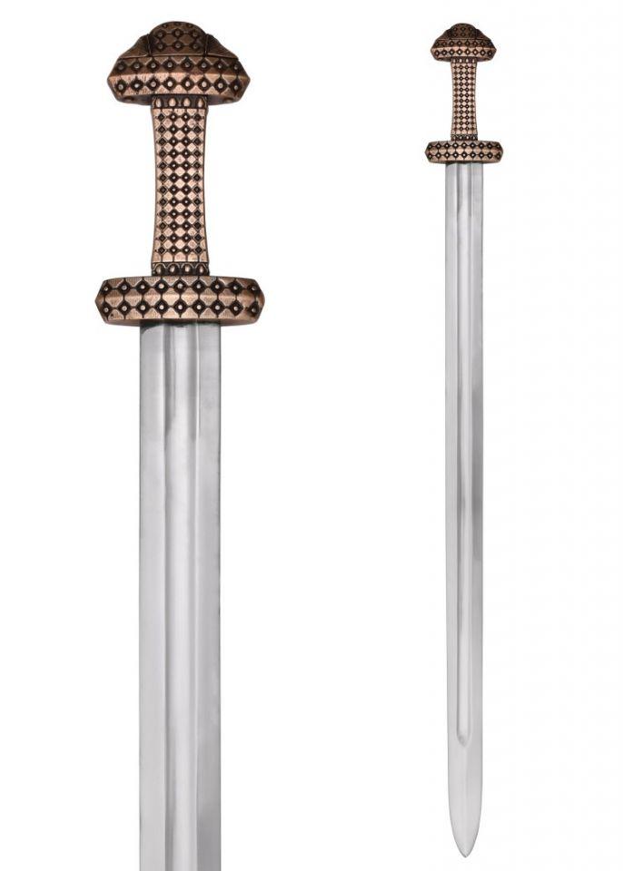 Epée Viking, poignée en bronze 3