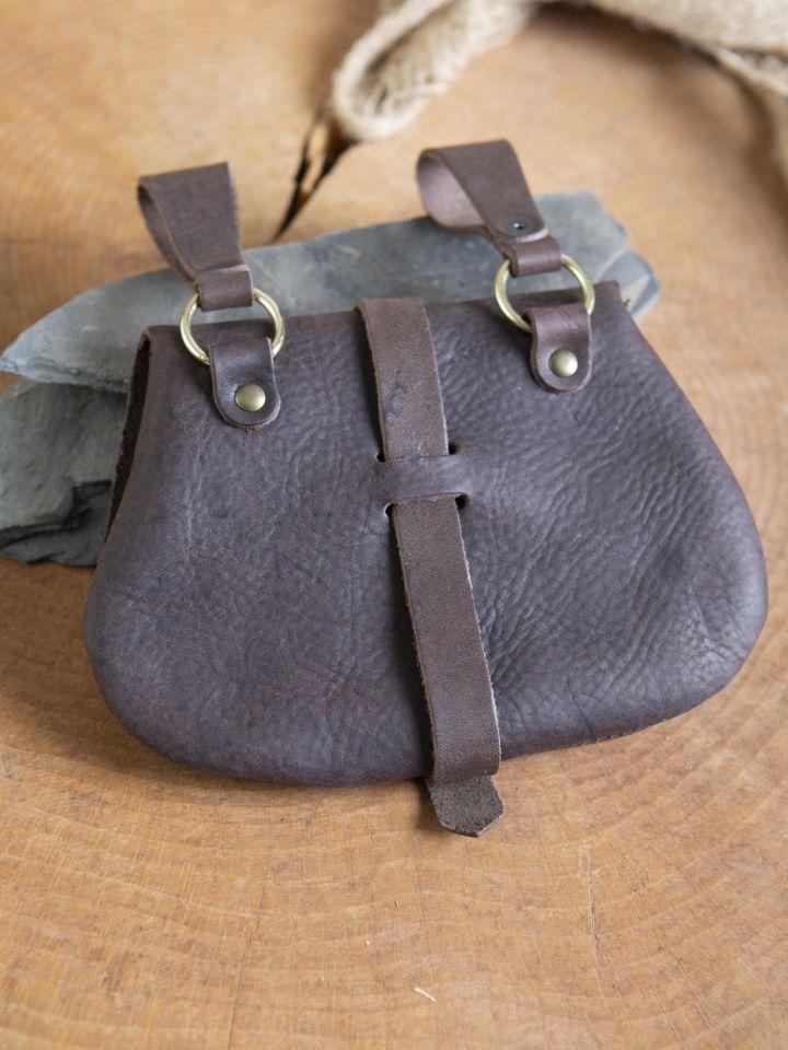 Sacoche de ceinture médiévale, en marron 3