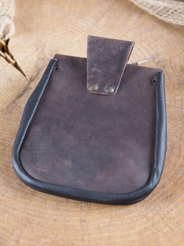 Pochette de ceinture fermoir à crochet, en marron 3