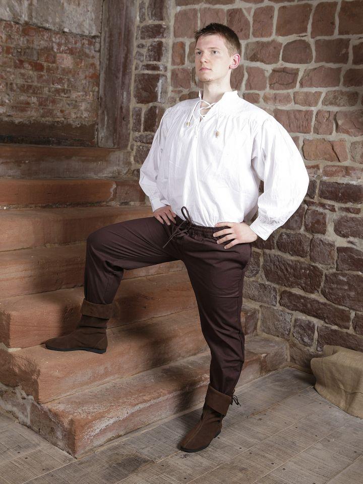 Pantalon médiéval brun foncé S 3