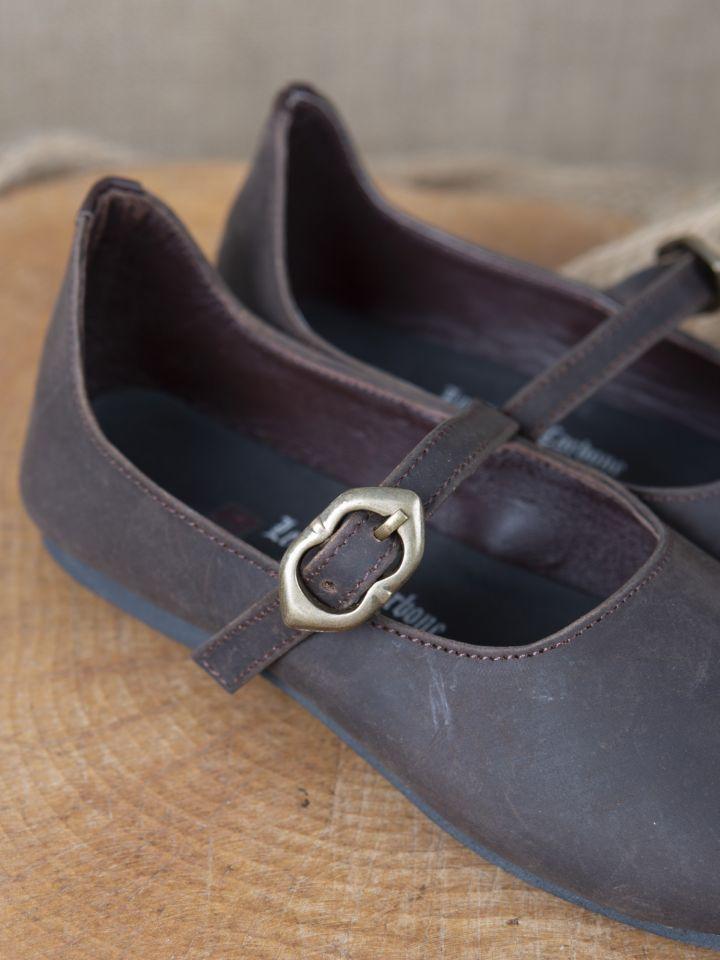 Chaussures médiévales Rieke en nubuck marron 3