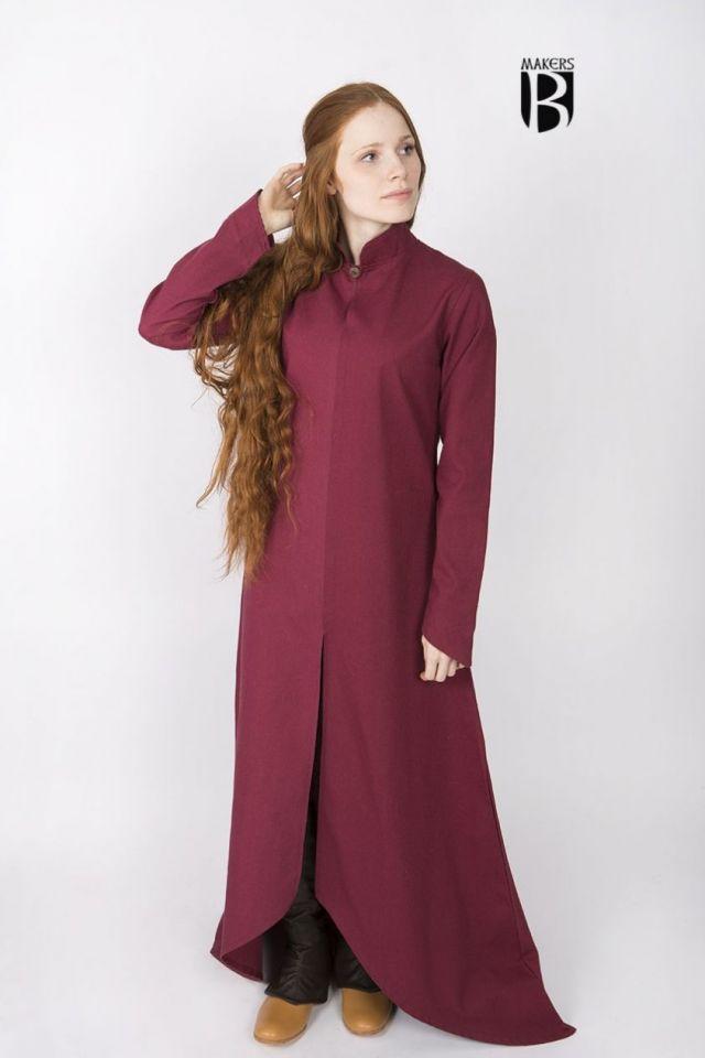 Longue robe Ranwen, rouge S 3