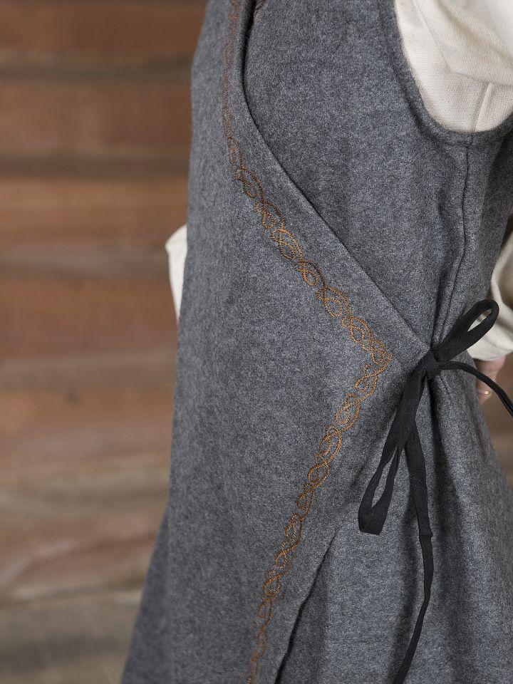 Robe portefeuille Dala en feutre gris 3