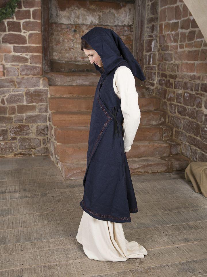 Robe portefeuille Dala en feutre bleu 3