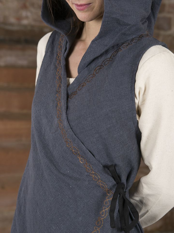 Robe portefeuille Dala en gris 3