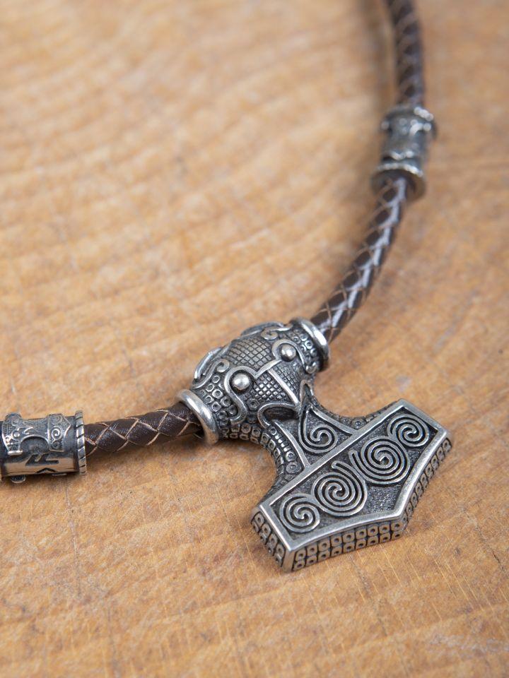 Pendentif cuir et Marteau de Thor 3
