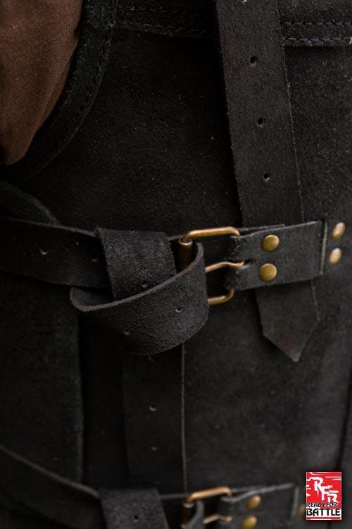 Armure Viking en cuir noir 3