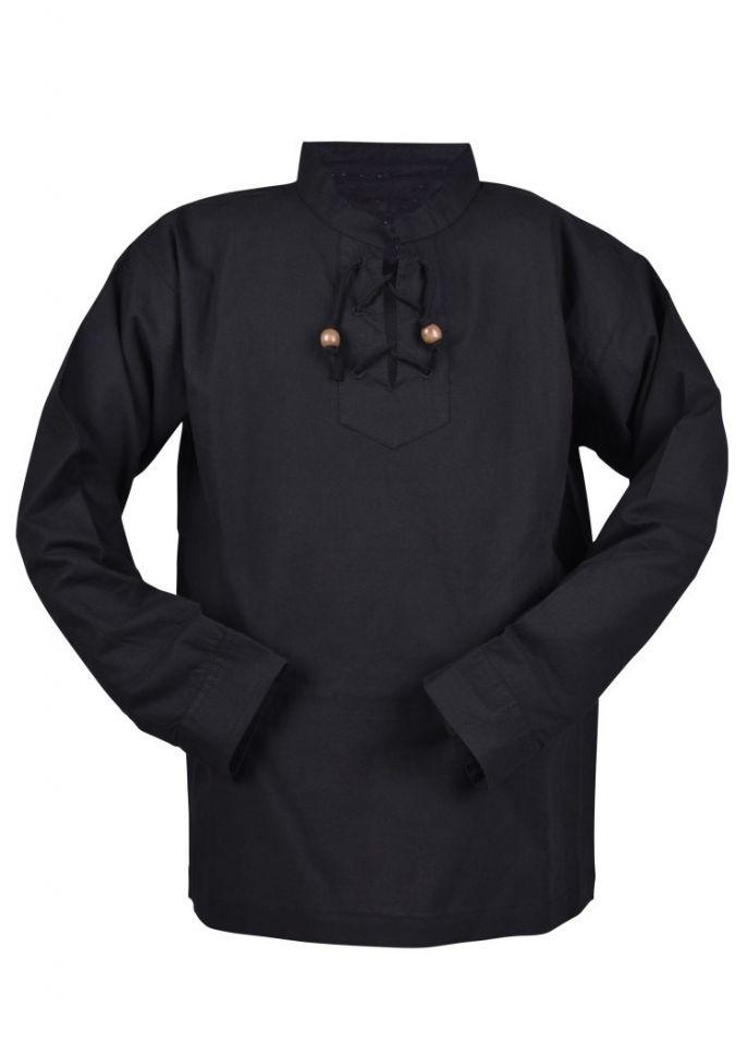 Chemise médiévale pour enfant, en noir 3