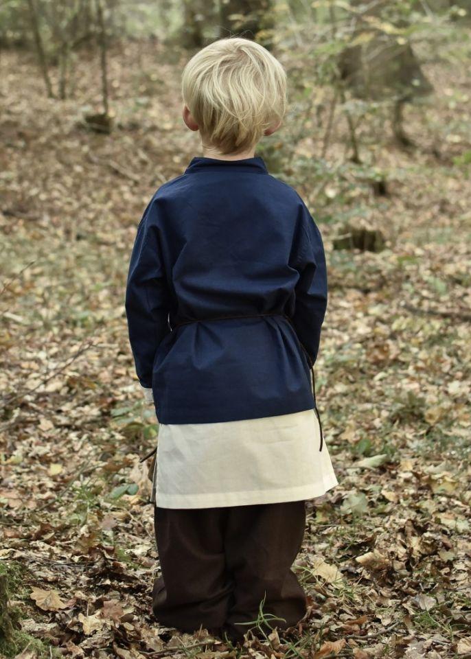 Chemise médiévale pour enfant, en bleu 3