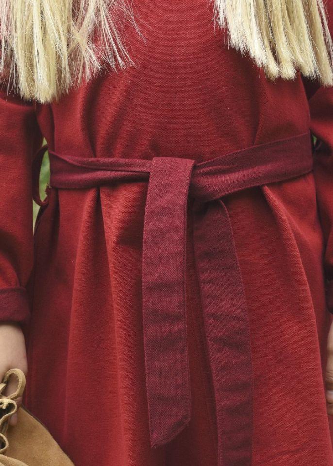 Robe Viking pour enfant, rouge/lie de vin 3