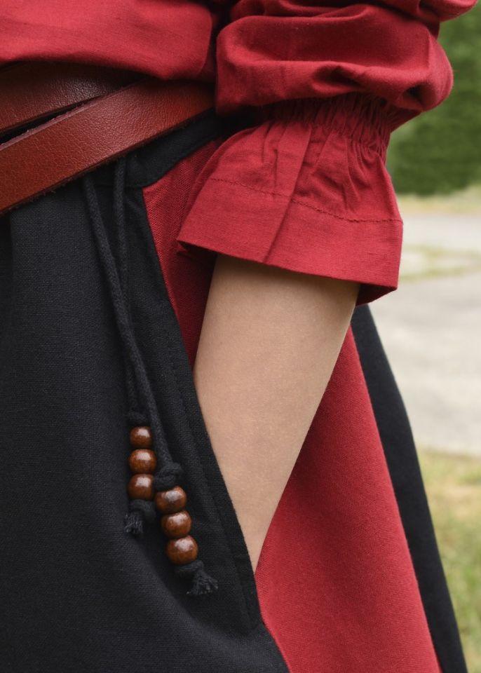 Jupe médiévale pour enfant, rouge et noire 3