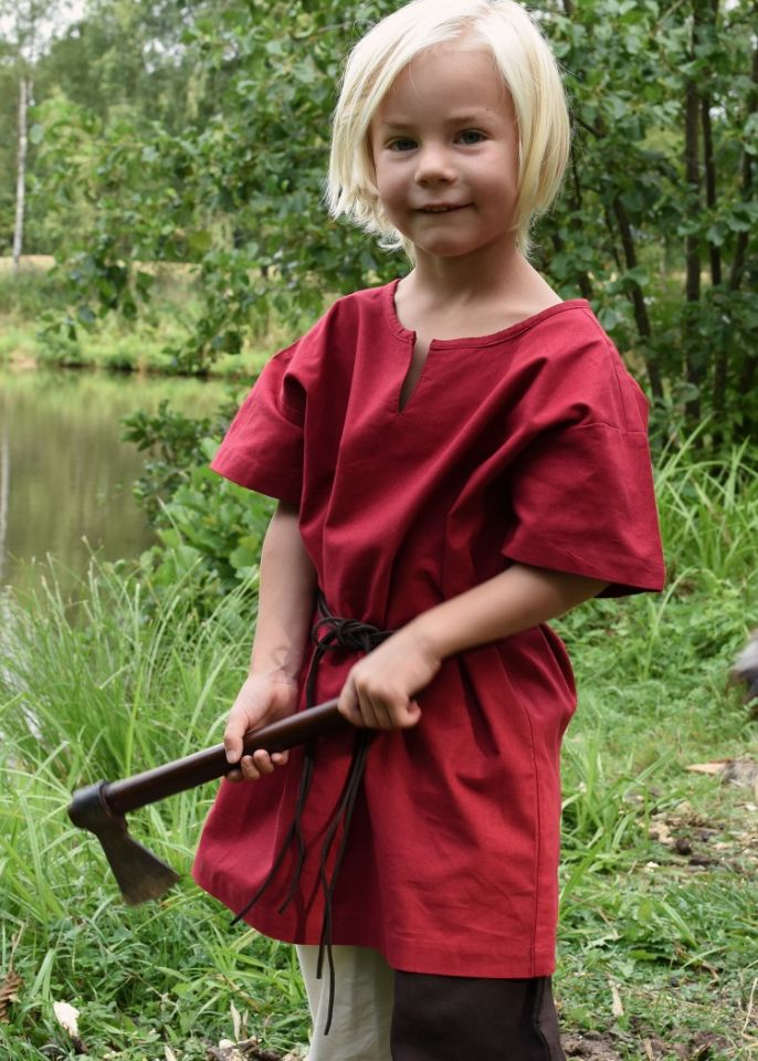 Tunique enfant manches courtes, en rouge 3
