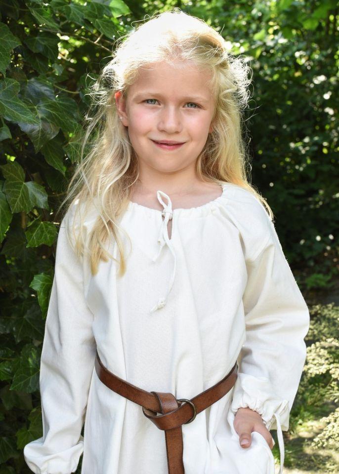 Robe médiévale Mara pour enfant écrue 3