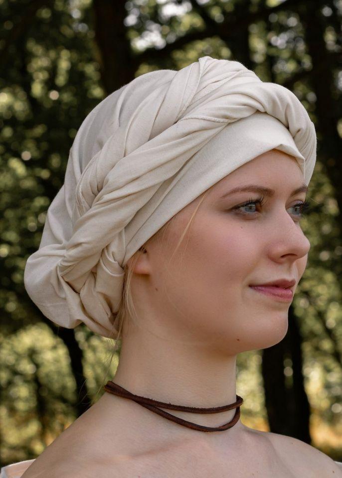 Grand foulard médiéval, écru 3
