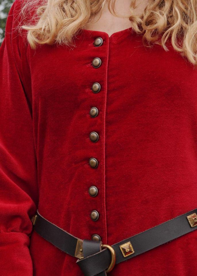 Cotehardie en velours, en rouge 3