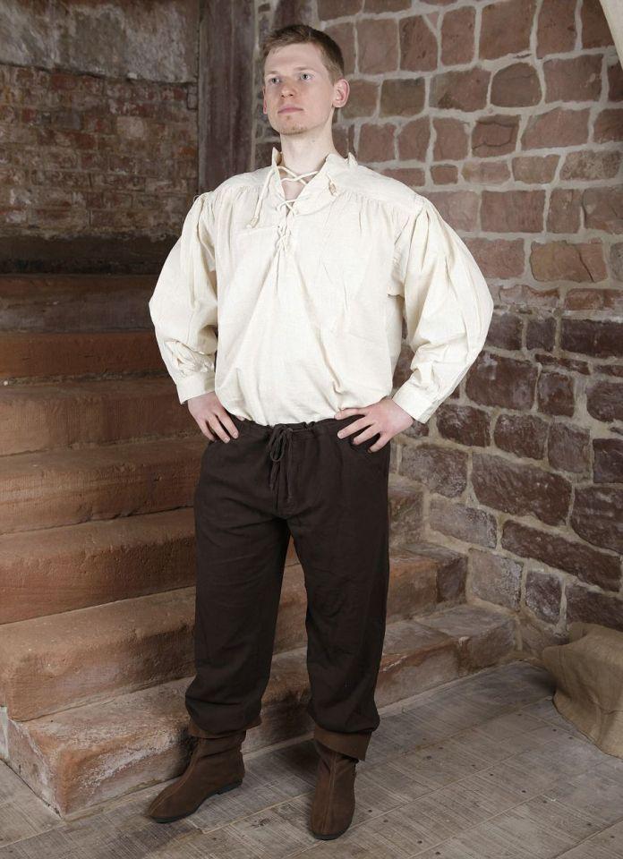 Pantalon médiéval en coton, avec poches noir XL | noir 3