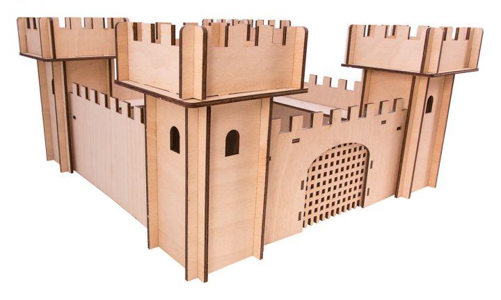 Chateau en bois 3D 3