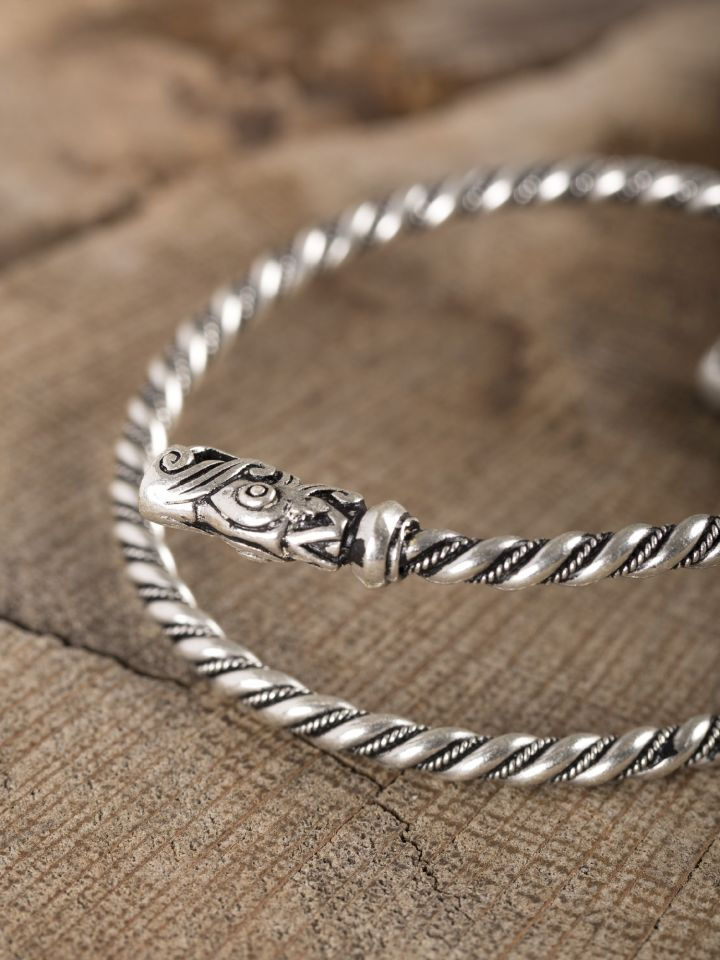 Bracelet viking spirale argenté 3