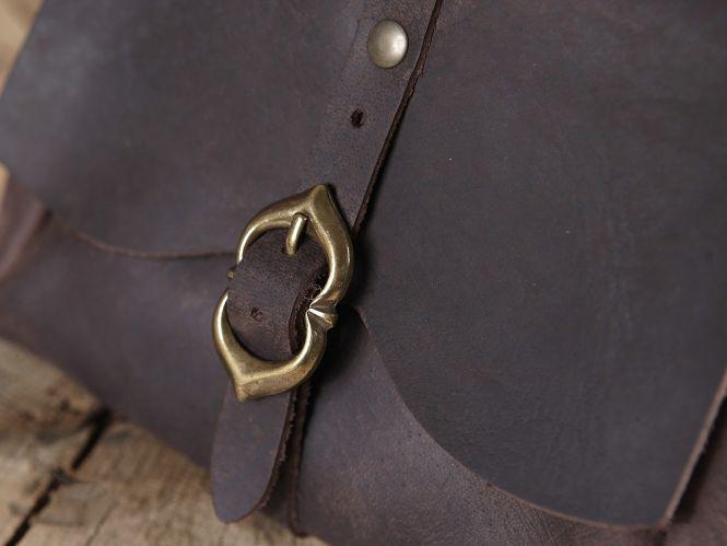 Sacoche de ceinture médiévale, marron 3