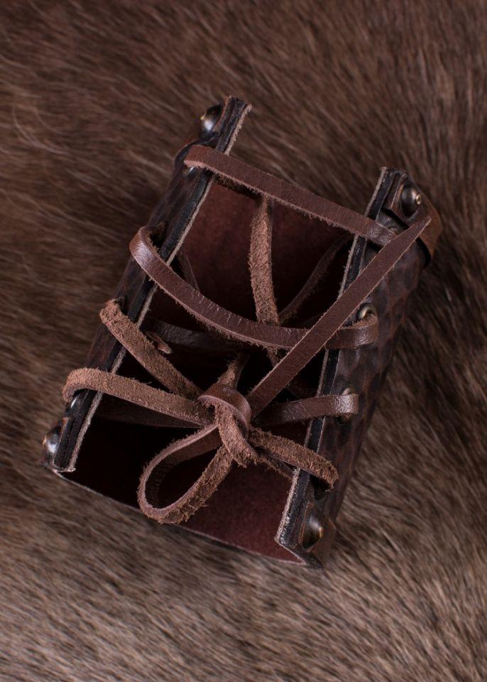 "Bracelet en cuir motif ""Hugin et Munin"" 3"