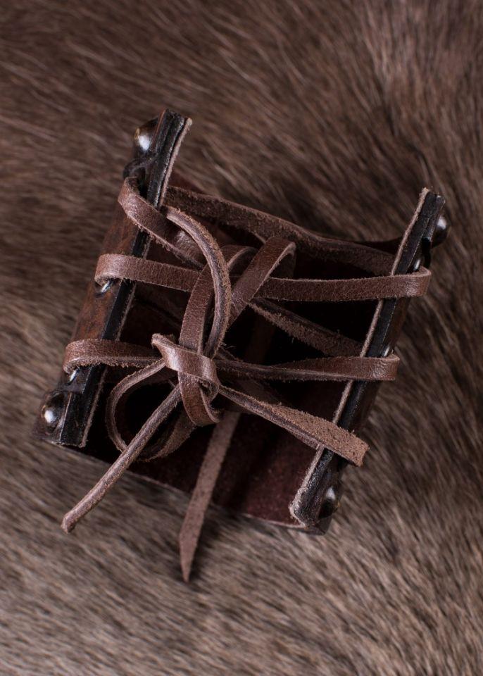 Bracelet en cuir motif Triskel 3
