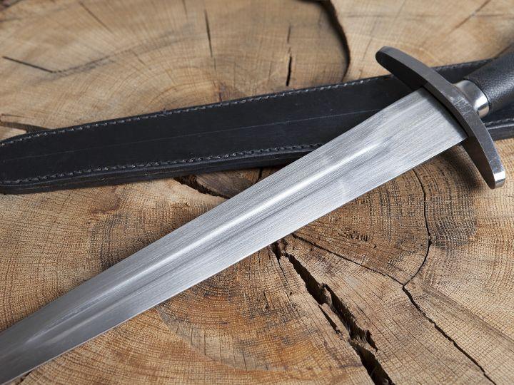 Dague de combat avec fourreau en cuir 3