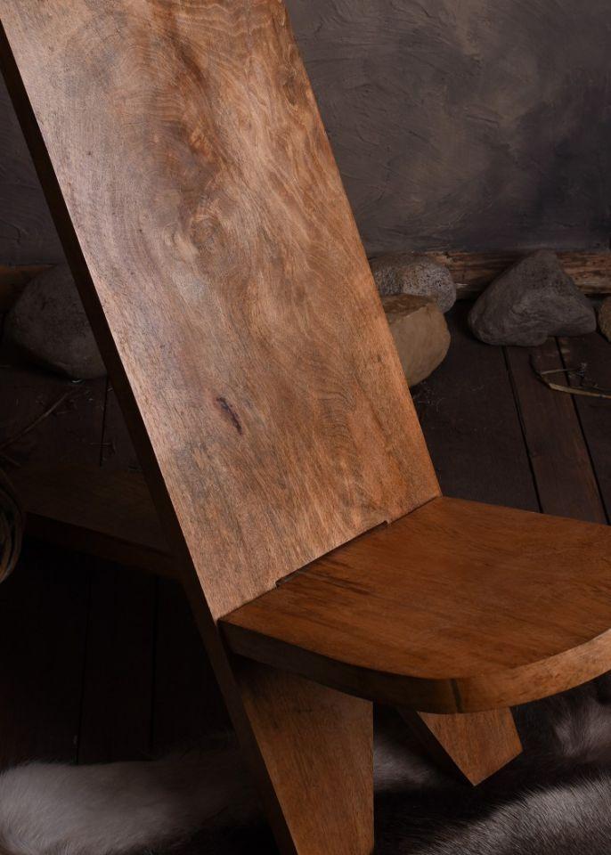 Chaise haute en manguier 3