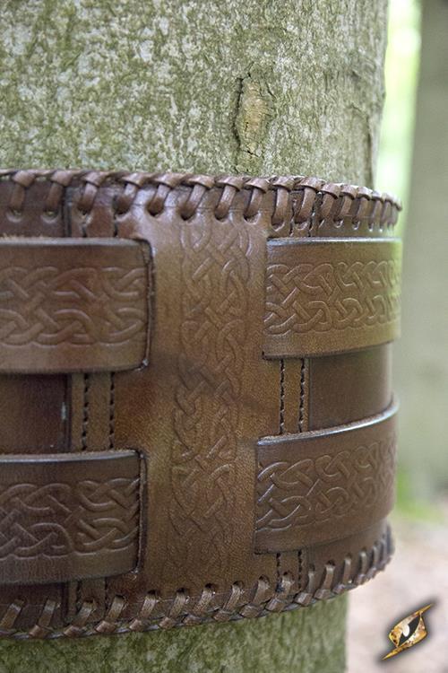 Ceinture double noeud celtique en marron 3