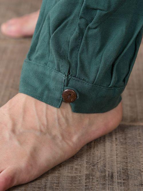 Pantalon médiéval en vert 3