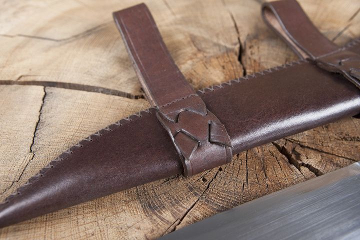 Saxmesser avec fourreau en cuir 3