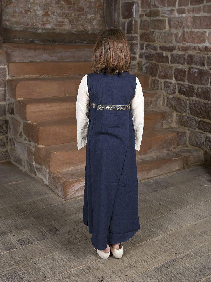 """Robe médiévale """"Piccolina"""" en bleu et écru 128/134 3"""