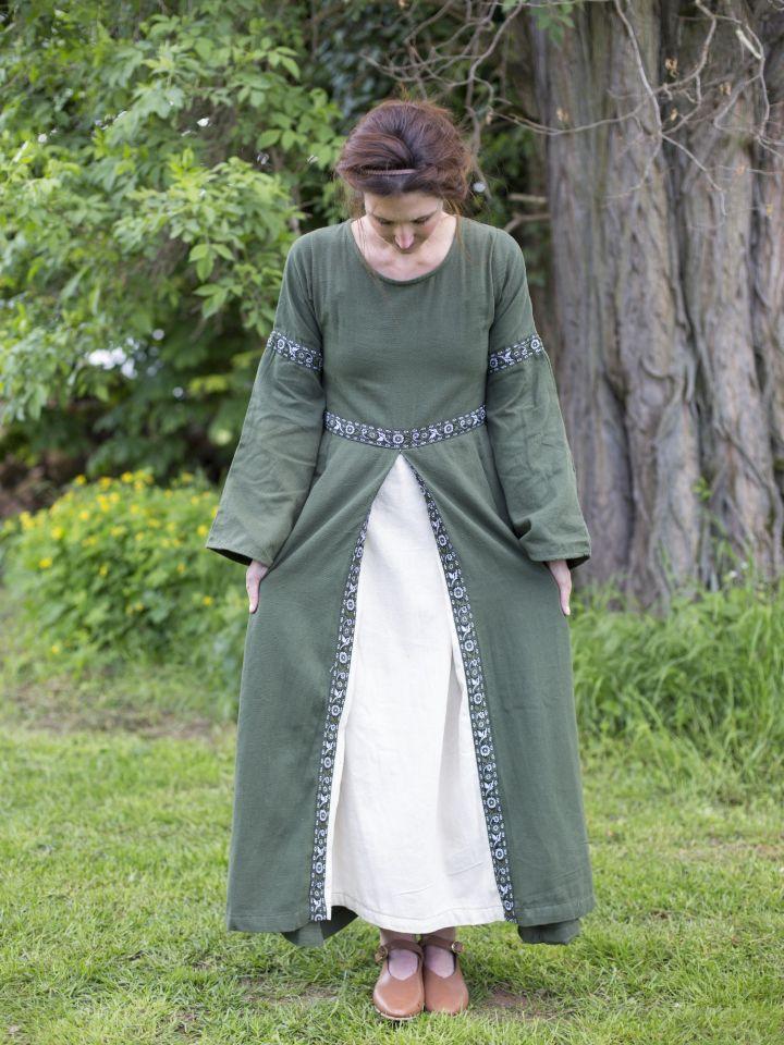 Robe médiévale vert forêt 3