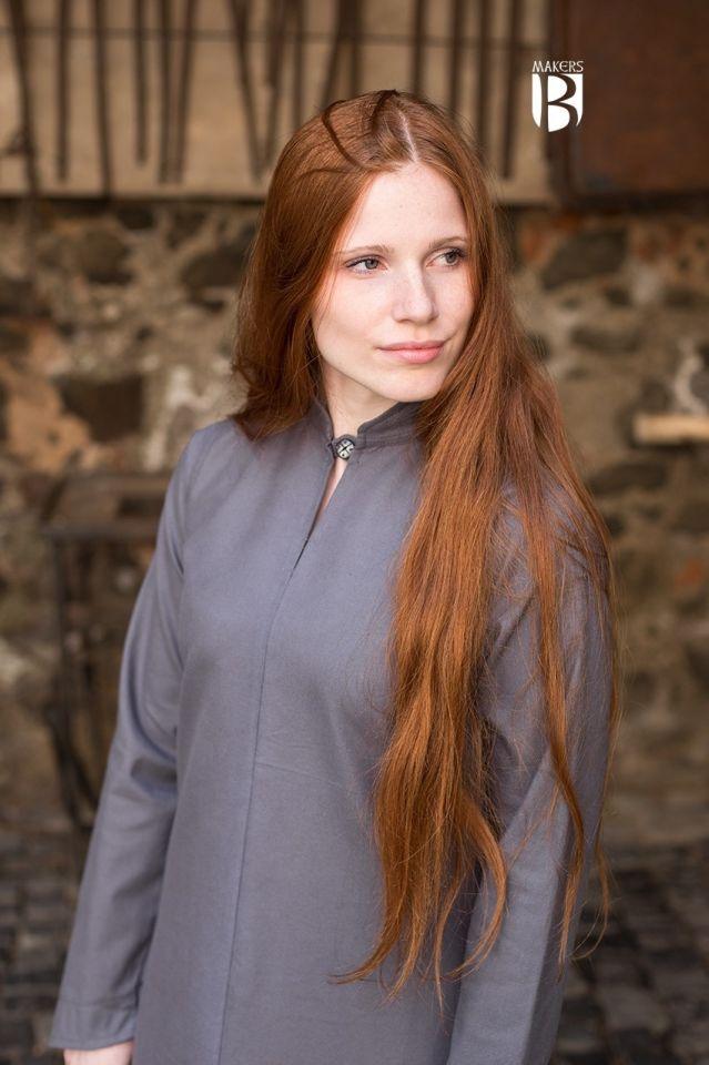 Longue robe Ranwen en gris XL 3