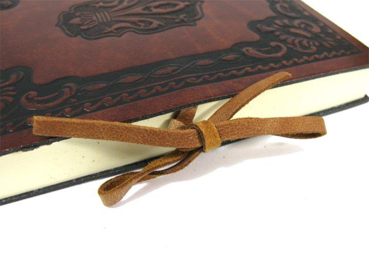 Carnet avec couverture en cuir 12 x 17 cm 3
