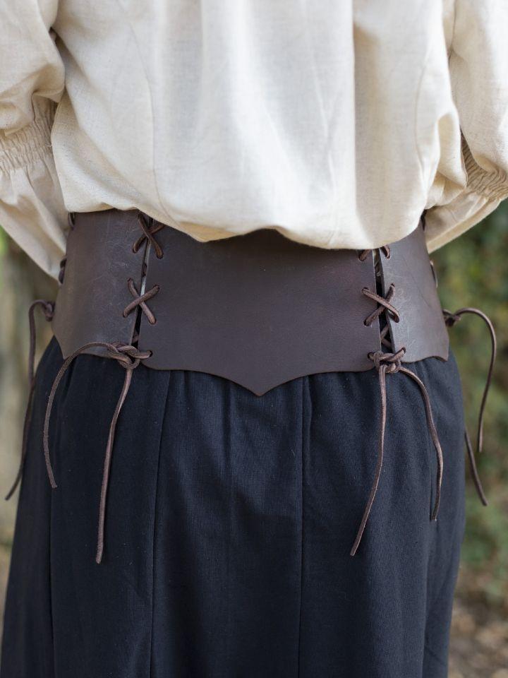 Corset Médiéval à boucles, marron 3