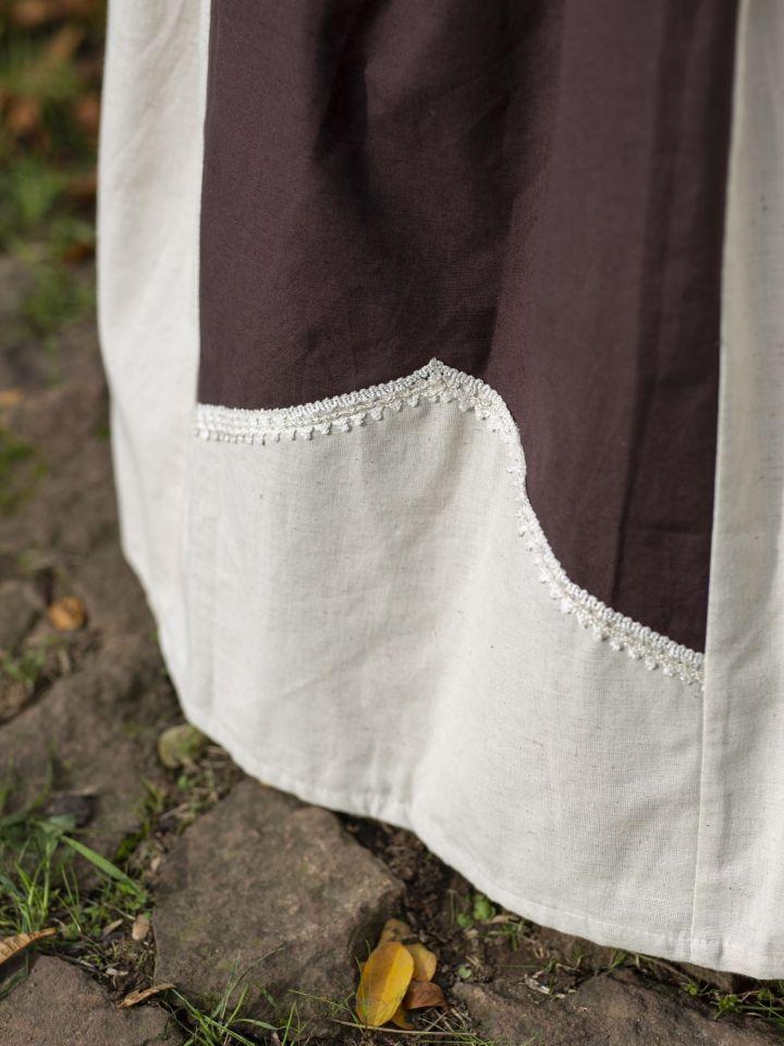 Jupe médiévale bicolore avec dentelle 3