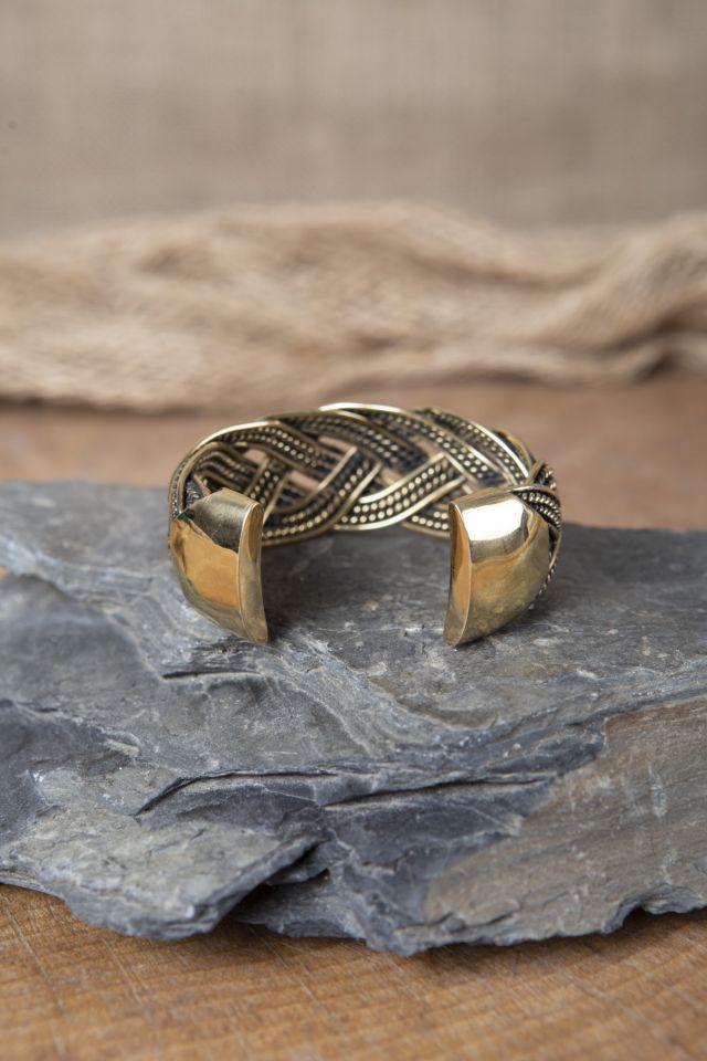 Bracelet Viking motifs joncs tressés 3