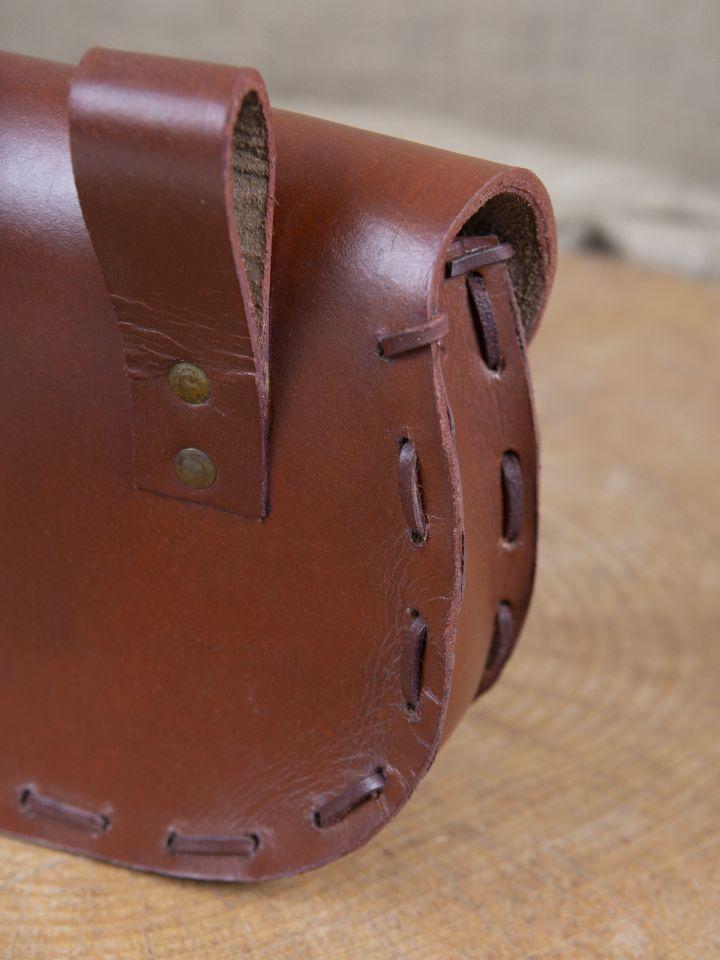 Sacoche de ceinture en cuir triskele en marron 3