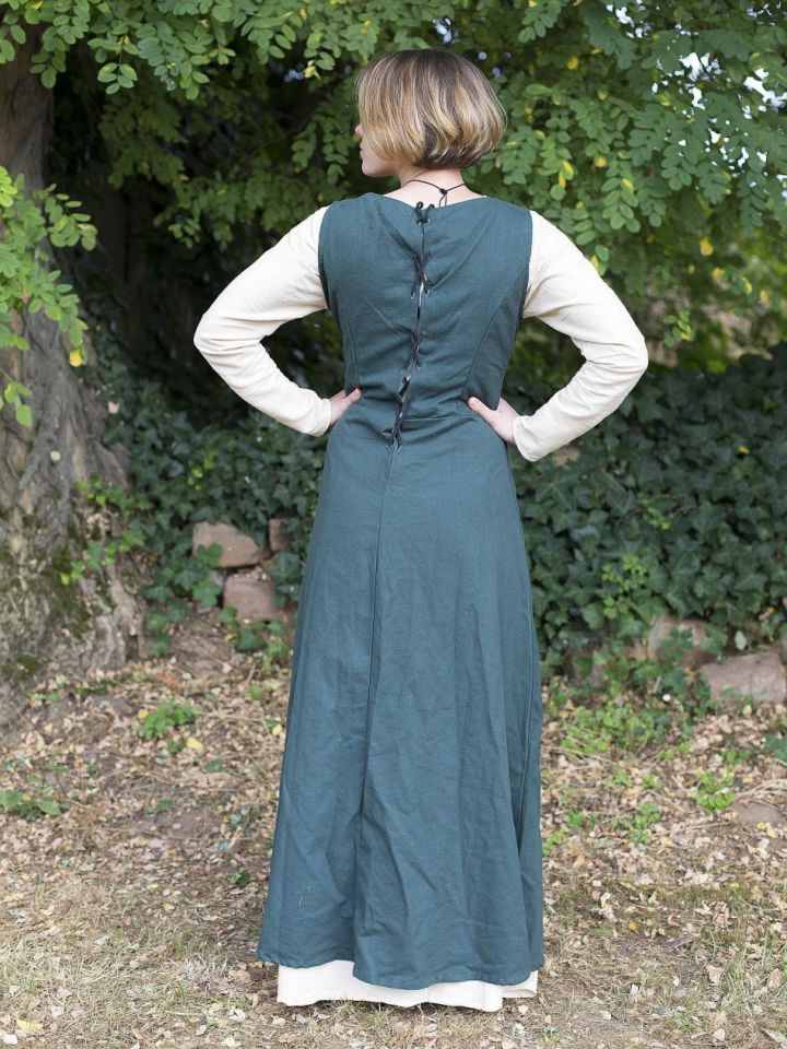 Robe médiévale sans manche en vert M 3